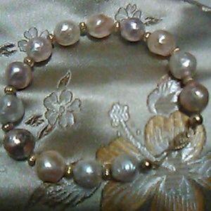 Honora Ming Bracelet 14k clasp beads